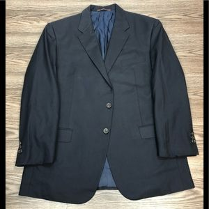 Hickey Freeman Navy Blue Blazer 44R